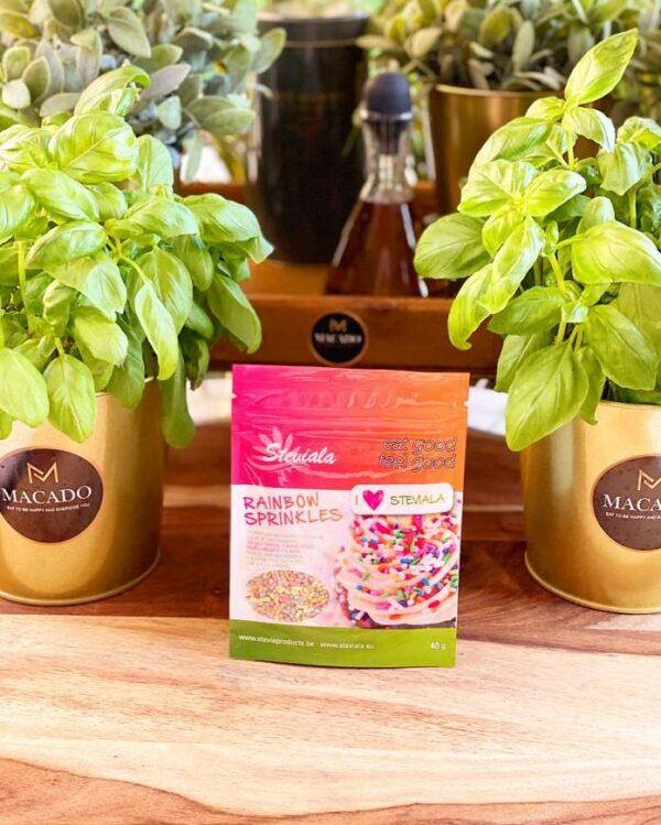 Rainbow Sprinkles - suikervrij (40g)