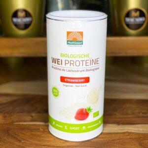 BIO Wei Proteïne Poeder Aardbei (450g)