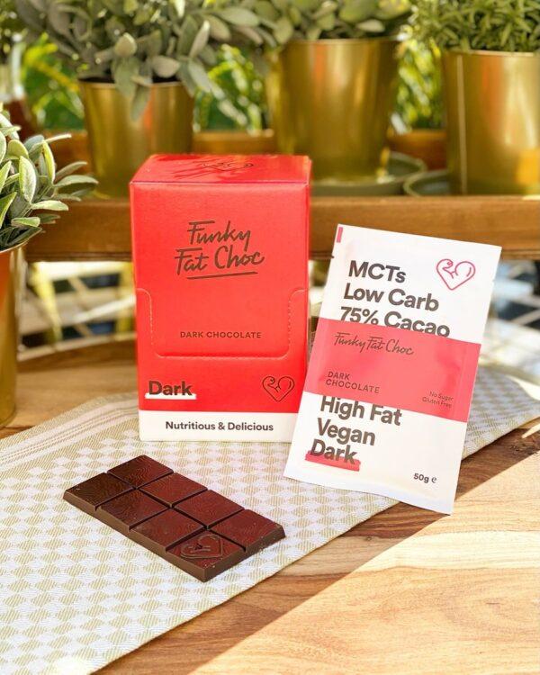 KETO-chocolade Funky Fat Foods - DARK (10 + 1 gratis)